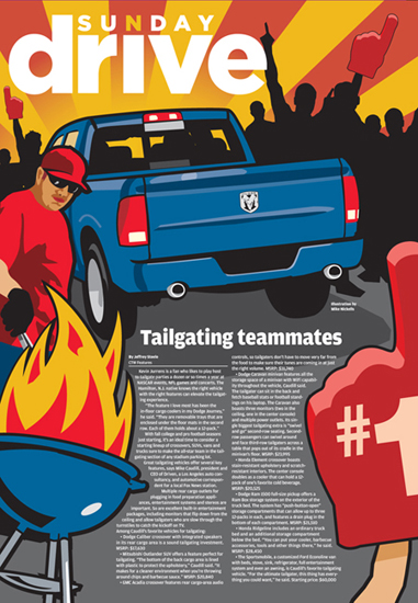 Tailgating Teammates Sunday Drive